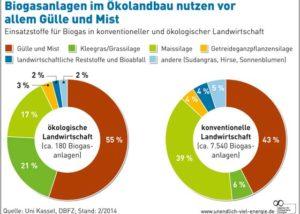 Grafik Ökolandbau und Bioenergie