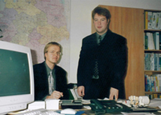 1999_Erste-Büro-Jörg-und-Hendrik