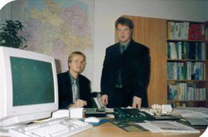 1999_Erste Büro Jörg und Hendrik