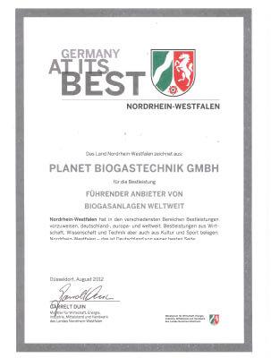 PlanET Auszeichnung 2012