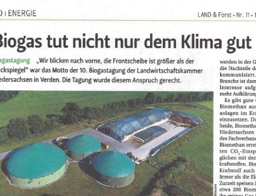 Biogas tut nicht nur dem Klima gut