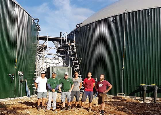 Biogasanlage auf den Philippinen