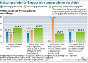 Biogas Wirkungsgrade