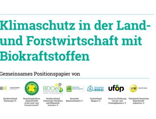 Klimaschutz Landwirtschaft u. Forstwirtschaft Biokraftstoffe tanken