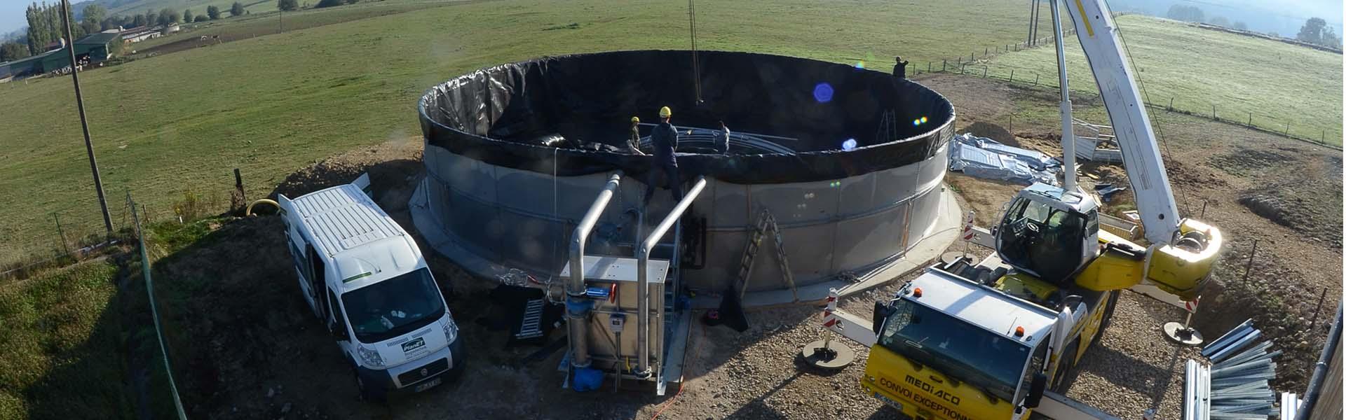 Neubau PlanET Biogastechnik
