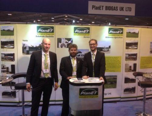 2016 – In der britischen PlanET Niederlassung arbeiten mittlerweile zehn Angestellte. Auf dem Bild das Sales-Team auf der Agrartechnik-Messe Energy NOW.